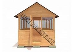 Беседка деревянная БС-01 «Домик с остеклением»