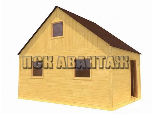 Дачный брусовой дом БД-01 (6 x 4)
