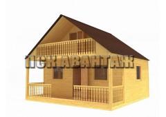 Дачный брусовой дом БД-02 (6 x 6)