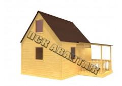Дачный брусовой дом БД-03 (5,5 x 5)