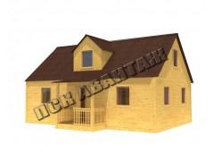 Дачный брусовой дом БД-04 (6 x 9) «Терем»