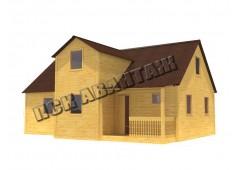 Дачный брусовой дом БД-05 (7,5 x 10,3) «Терем»