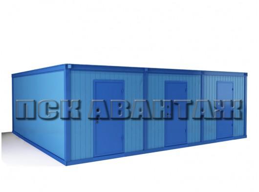 Модуль БМ-06 СП из трех блок-контейнеров, разделенных перегородками