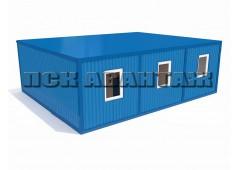 Модульная столовая МС-02 из трех блок-контейнеров